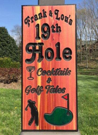 Hand Painted Signs - Golfer Wood Sign - Golfer Gift Ideas