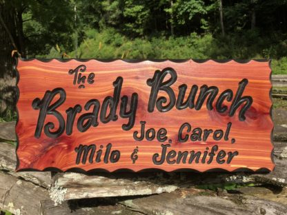 Hanging Family Name Wood Sign -Rustic Wooden Sign Designs