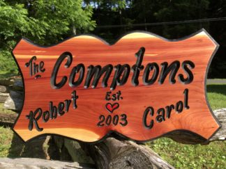 Custom Carved Door Signs for Home with Family Name