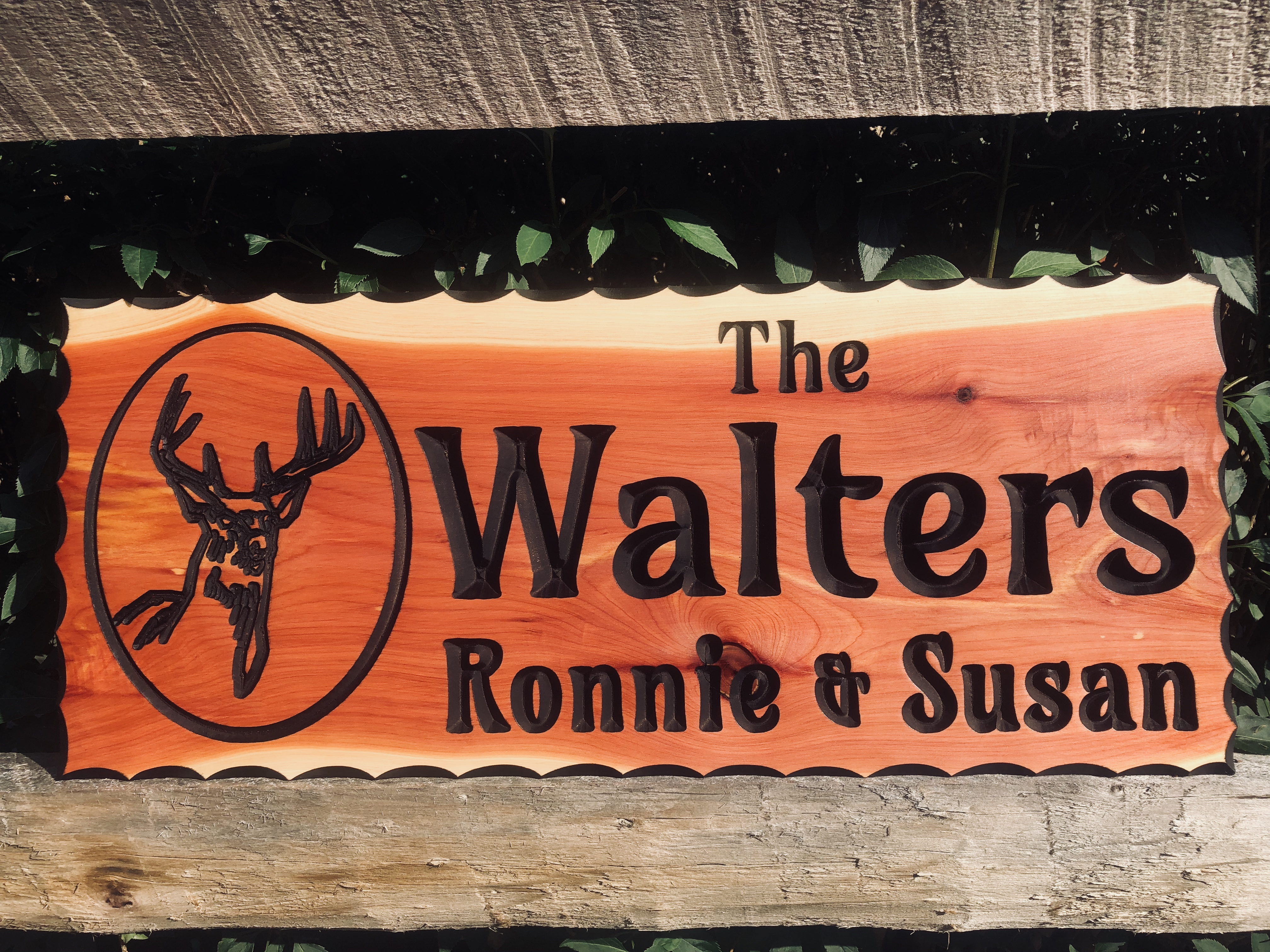 Outdoor wood signs plaques custom engraved wooden signs