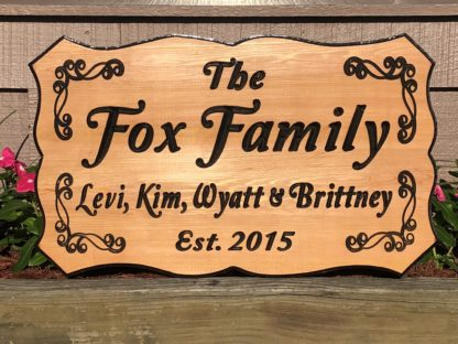 Wood Signs Home Decor - Custom, Personalized Name Signs