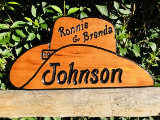 Routed Wood Sign Shapes - Cowboy Hat Wooden Sign Personalized with Name
