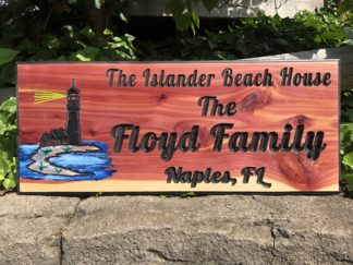 Custom Engraved Lighthouse Wooden Sign by Wood Signs of Gatlinburg