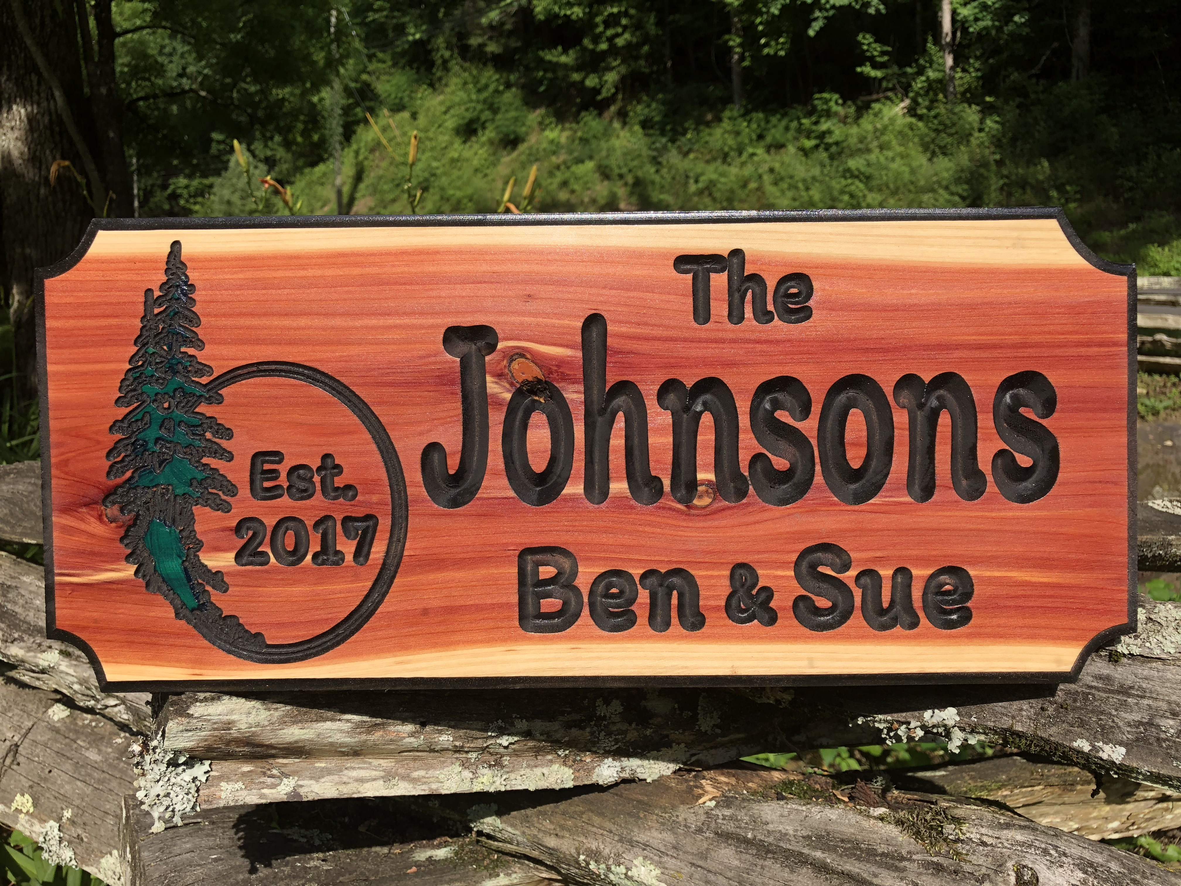 Johnsons Wood Sign