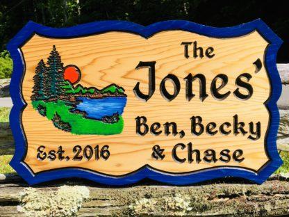 Custom Hand-painted Lake House Wood Sign