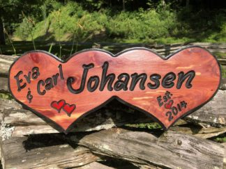 Indoor and Outdoor Wood Signs for Home -Name Sign for Home Decor