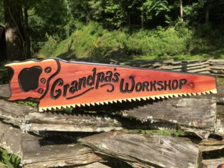 Cool Wood Signs - Custom, Personalized Saw Shape Wooden Sign - Great Gifts for Men Ideas