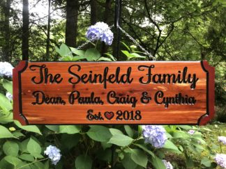 House Name Signs - Custom Carved Wooden Name Signs