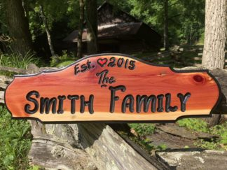 Wooden Name Plaques for Outside - Custom, Personalized Name Signs by Wood Signs of Gatlinburg