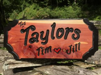 Wooden Name Signs for Home - Made in the USA by Wood Signs of Gatlinburg Sign Shop