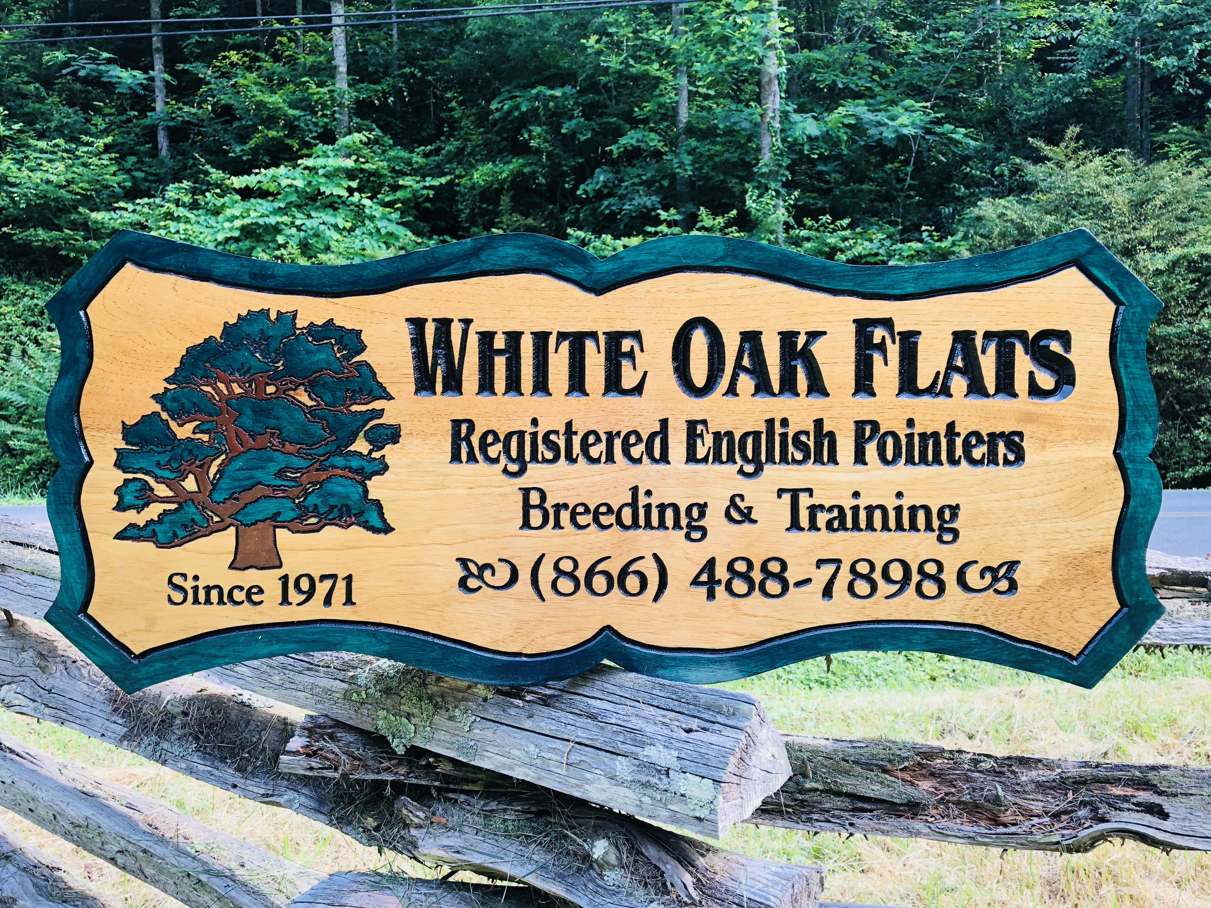 White Oak Flats Wood Sign