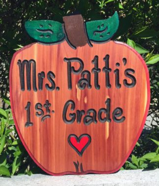 Apple Shaped Sign - Best Teachers Gift