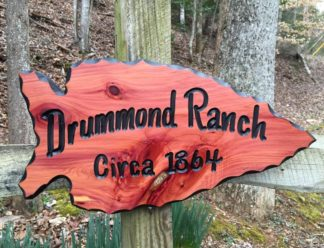 Arrowhead Shaped Sign - Custom Personalized Wooden Sign