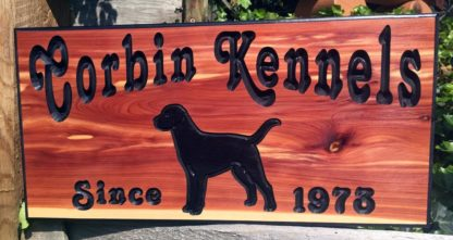 Rustic Home Sign - Customized Cedar Sign with Choice of Dog Picture