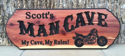 Custom Man Cave Sign - engraved Wood Signs for Home