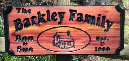 Carved Wooden Signs Made to Order - Custom Name Sign for Family Home