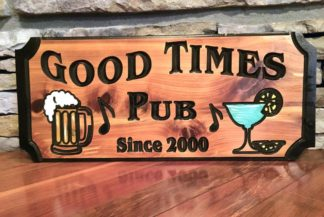 Custom Bar Sign -Wood Signs of Gatlinburg Sign Shop
