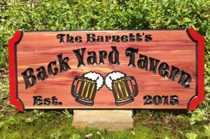 Pub Sign - Wooden Tavern Custom Sign