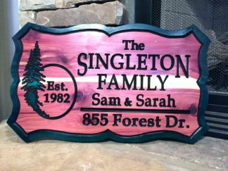 Hanging Name Signs - Wooden Sign Personalized with Custom Picture