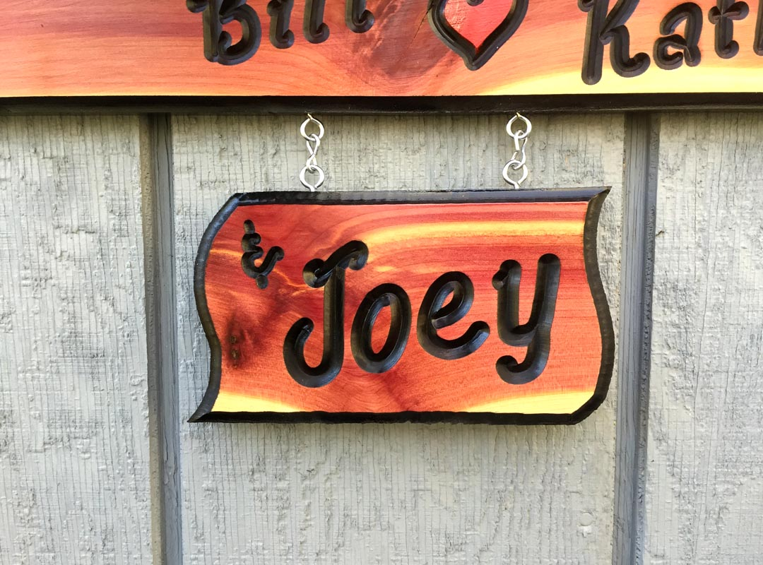 Small wooden name sign custom engraved