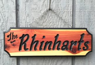 Wooden Sign Custom Carved and Personalized House Signs