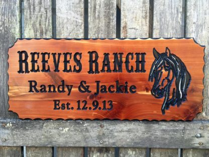 Custom Engraved Rustic Wood Sign Made in the USA