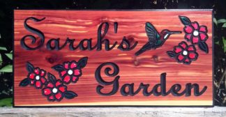 Personalized Wooden Garden Signs - Hand Crafted Sign