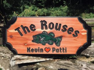Custom Wood Sign - Personalized Carved Bass Sign