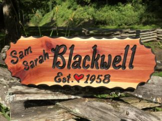 Custom Wooden Hanging Signs - Personalized Name Sign