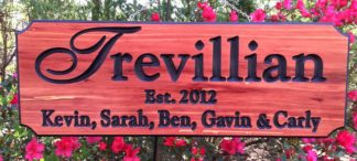 Personalized Family Sign for House or Home - Outdoor Name Signs by Wood Signs of Gatlinburg Sign Shop