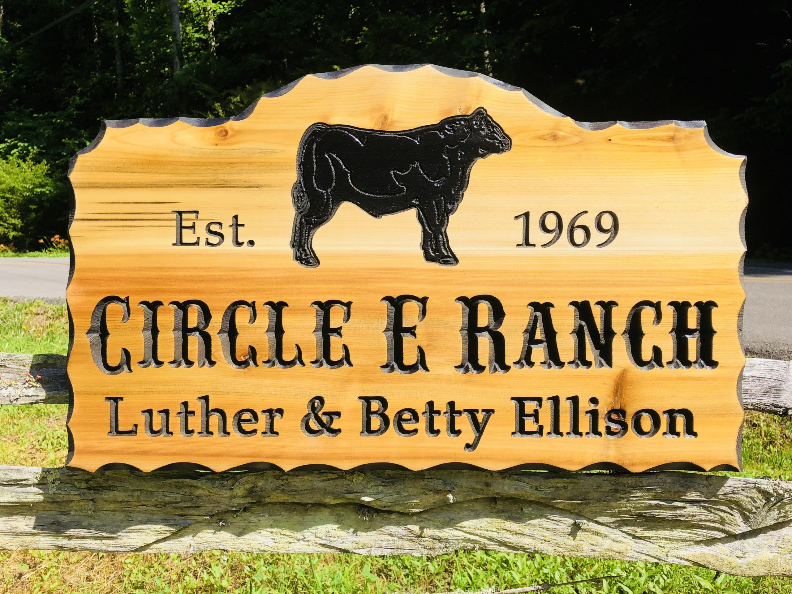 Personalized Engraved Wooden Farm Sign