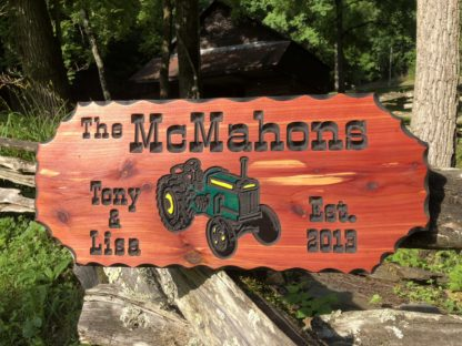 Personalized Farm and Barn Wood Signs - Hand Painted and Engraved for Personalization