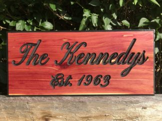 Custom Made Rustic Wood Signs - Personalized Wooden Signs for Home, Business, Office, Yard, Farm and Barn
