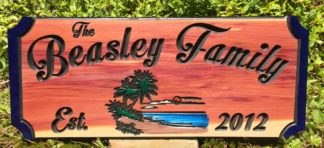 Lake House Signs - Handpainted Custom Carved Name Cedar Sign
