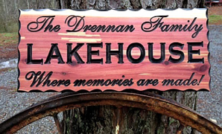Personalized Lake House Wood Sign