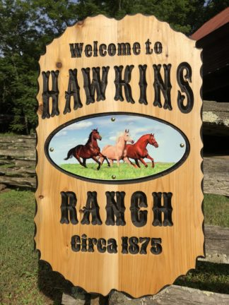 Outdoor Name Signs - Farm, Barn and Ranch Routed and Carved Name Signs