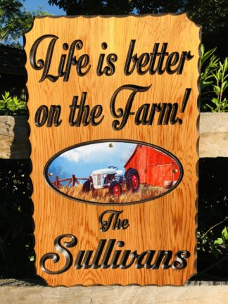 Farm Signs - Customized Farm Name Wood Signs Made to Order