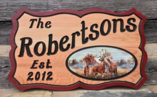 Personalized Outdoor Wooden Sign - For Home or Business