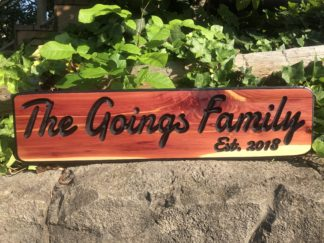 Outdoor Wood Signs for Home - House Number and Address Sign