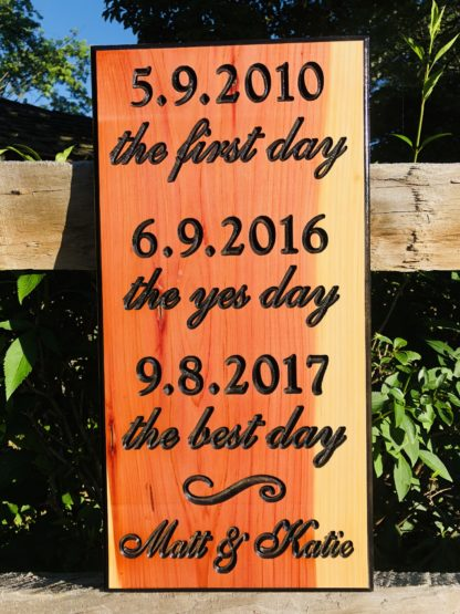 Custom Made Wood Signs for Wedding, Anniversary, Newlywed Gifts