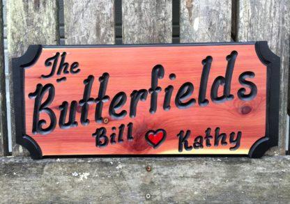 Butterfield Wood Sign