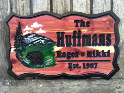 Huffmans Wood Sign