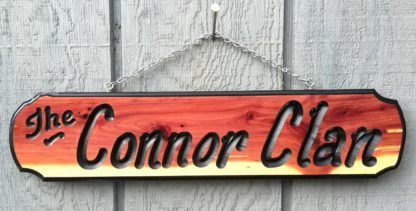 Connor Wood Sign