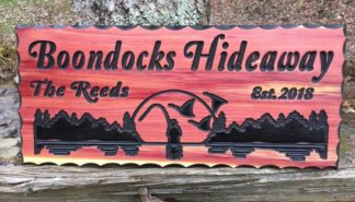 Boondocks Hideaway Wood Sign- BLACK