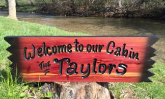 Cabin Wood Sign