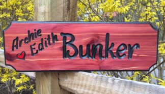 Bunker Wood Sign