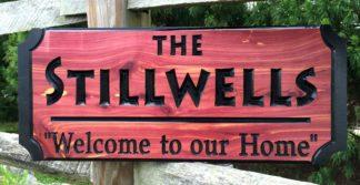 Stillwells Wood Sign