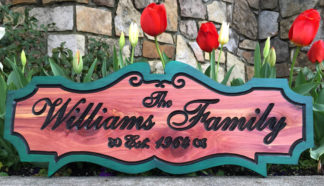 Williams Wood Sign