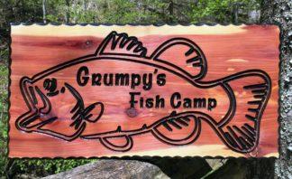 Bass Wood Sign
